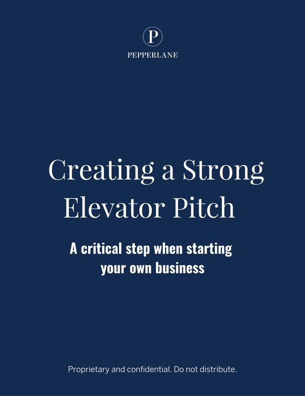 Creating a Strong Elevator Pitch - Cover
