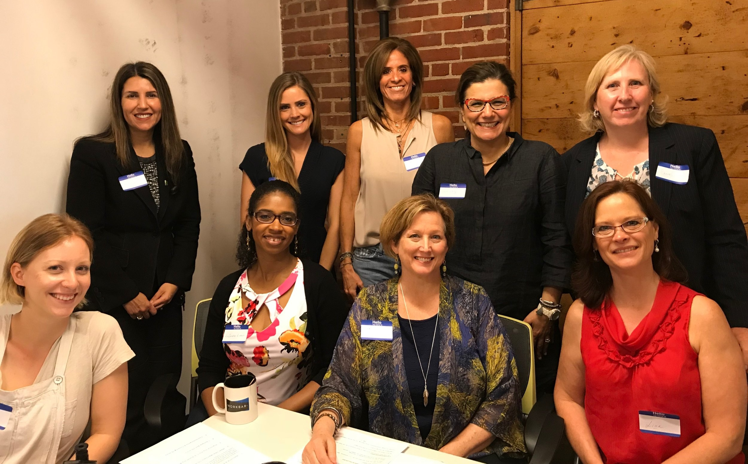 Pamela Willsey  at our Arlington Boost event along with members  Becky Mariano ,  Sairey Leone Luterman ,  Carmel Murphy-Kotyan ,  Cat Camara ,  LuSundra Everett ,  Robyn Mather , and  Lisa Smith .